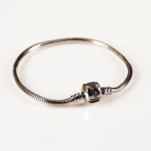 Large Silver Charm Bracelet