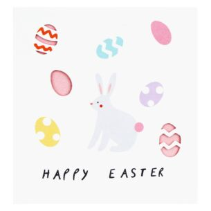 'Bunny and Eggs' Easter Card