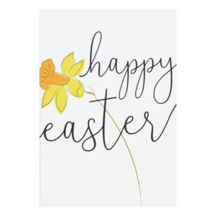 Pack Of 10 'Daffodils' Easter Cards