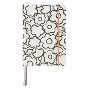 Caroline Gardner Doodle Flower A5 Notebook
