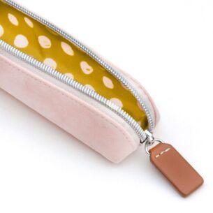 Pink Velvet Essential Pencil Case