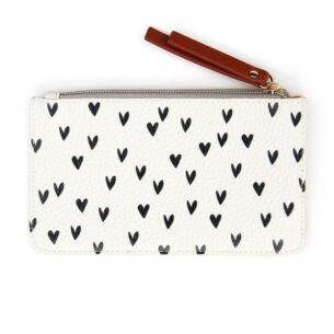 Caroline Gardner Mini Hearts Zip Top Purse