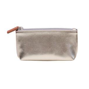 Gold Metallic Handbag Makeup Bag