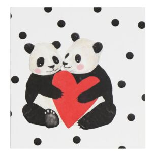 Two Pandas Valentine's Day Card