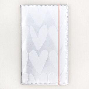 Silver Hearts Travel Wallet