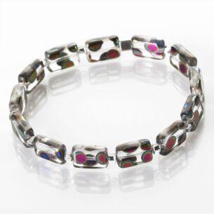 Clear Dotty Rectangle Bracelet