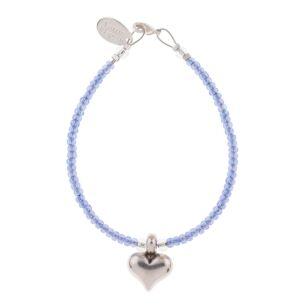 Lavender Heart Strings Bracelet