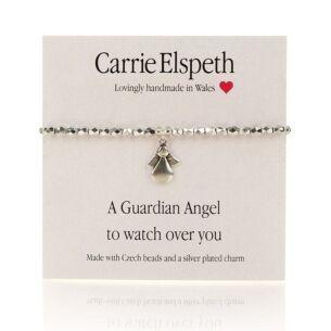 A Guardian Angel Sentiment Bracelet