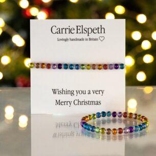 Very Merry Christmas Sentiment Bracelet