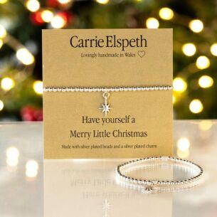 Merry Little Christmas Sentiment Bracelet