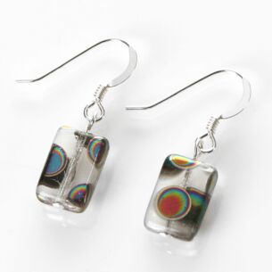 Carrie Elspeth Clear Dotty Rectangle Earrings