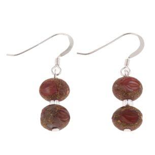 Red Meteor Earrings