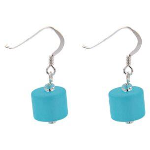 Aqua Frosted Earrings