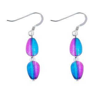 Blue/Pink Peardrops Earrings