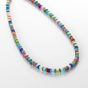 Day-time Cats Eye Cubes Full Necklace