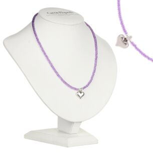 Lilac Heart Strings Necklace
