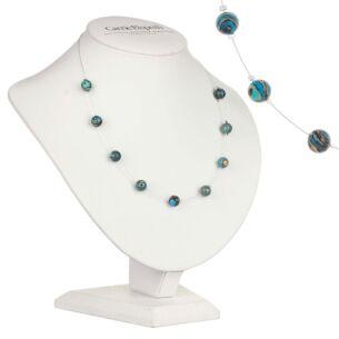 Turquoise Zebra Marbled Necklace