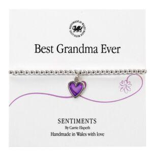 Best Grandma Ever Sentiment Bracelet