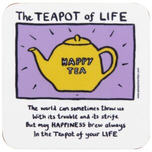 The Teapot of Life Coaster