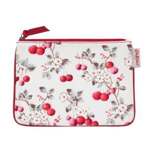 Cherry Sprig Cotton Zip Pouch