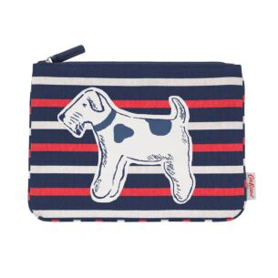 Squiggle Dogs Striped Pouch