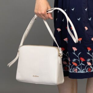 Cath Kidston Cream Maltby Leather Cross Body Bag