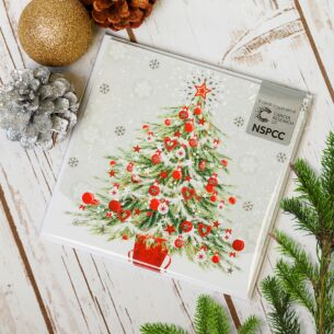 Tree in Snow Pack of Six Charity Christmas Cards