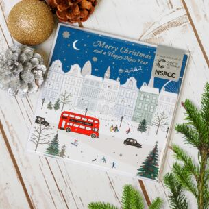 City Scene Pack of 6 Christmas Cards Charity Pack