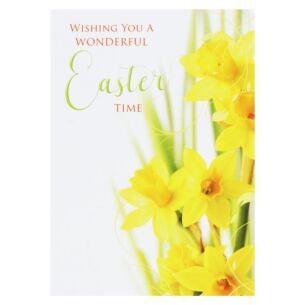 Pack Of 5 'Daffodils' Easter Cards