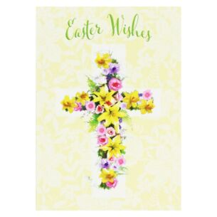 Pack Of 5 'Floral Cross' Easter Cards
