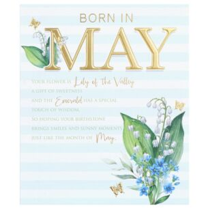 Floral 'Born in May' Birthday Card
