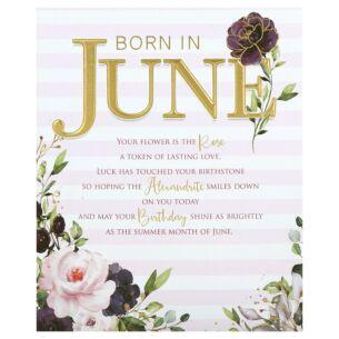Floral 'Born in June' Birthday Card