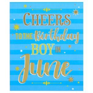 'Birthday Boy in June' Birthday Card