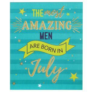 Male 'Born In July' Birthday Card