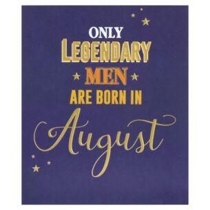 Male 'Born In August' Birthday Card