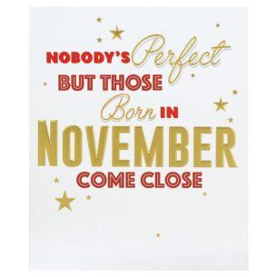 'Born in November' Birthday Card