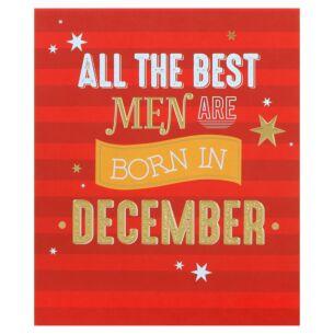 Male 'Born in December' Birthday Card