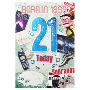 Down Memory Lane Green '21 Today' Card