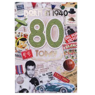 Down Memory Lane Green '80 Today' Card