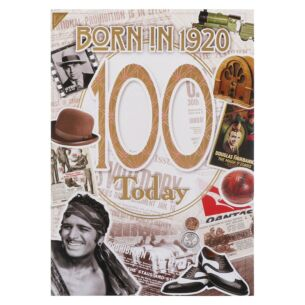 Down Memory Lane Gold '100 Today' Card