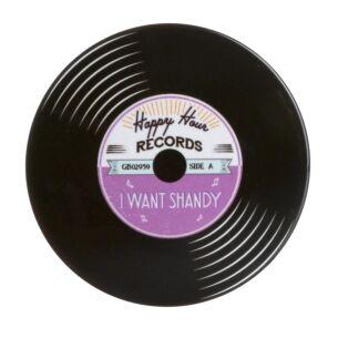 'I Want Shandy' Record Coaster