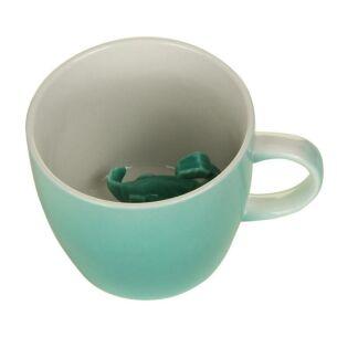 Disaster Designs Turquoise Dinosaur Mug