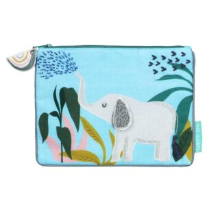 Little Arc Elephant Quilted Pouch