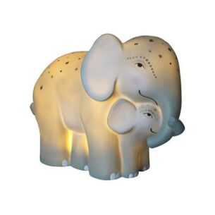 Disaster Designs Large Mother & Baby Elephant Lamp