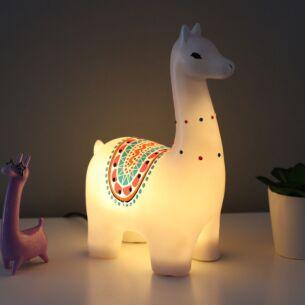 Large Candypop Llama Lamp