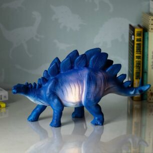Large Blue Stegosaurus Lamp