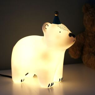Large Bear with Party Hat Lamp