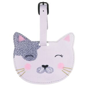 Over The Moon Cat Luggage Tag