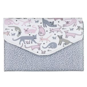 Disaster Designs Over The Moon Cat Travel Wallet
