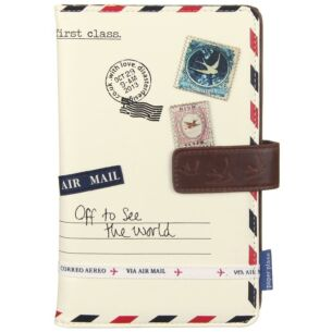 Disaster Designs Paper Plane Cream Travel Wallet